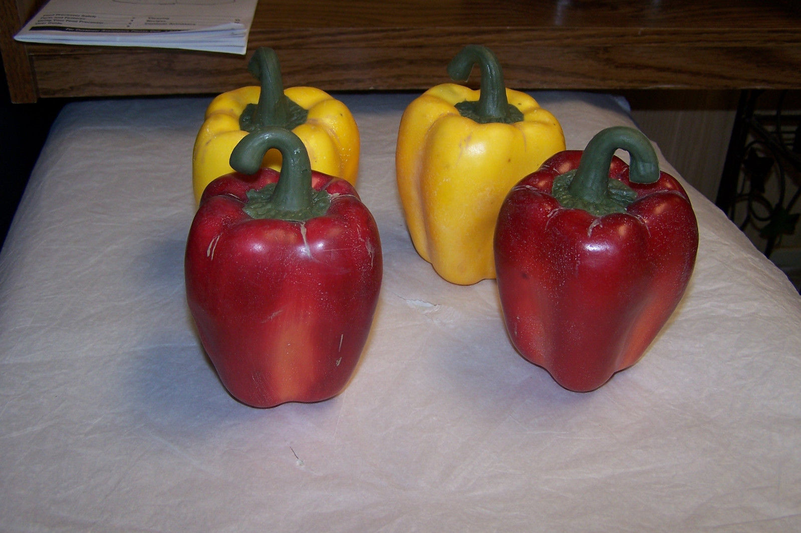 5 Red Artificial Sweet Bell Peppers 2 Yellow Peppers And 3 Pieces Cauliflower image 2
