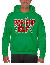 Men's Hoodie Pop Pop Elf Ugly Xmas Holiday Family Cute Gift - $24.94+