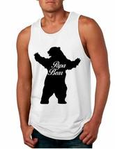 Men's Tank Top Papa Bear Family Shirt For Dad Xmas Cute Top - $14.94+