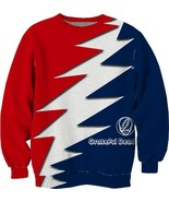 Grateful dead rock red blue color sublimated fu... - $32.99 - $44.99