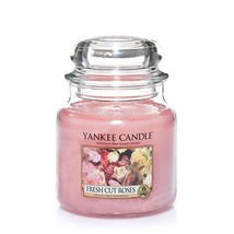 Yankee Candle Fresh Cut Roses Medium Jar Candle, Floral Scent - $19.48