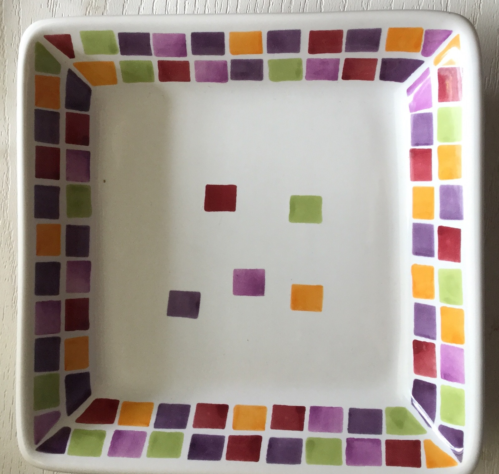 Pampered Chef Simple Additions 2024 Square Tiles 7 Inch Dish
