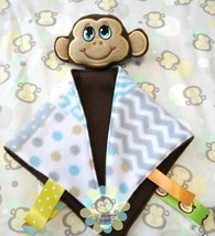 Boy Monkey Sensory Security Blanket Lovey/Small... - $10.00