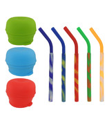 Universal Silicone Sippy Cup Fat Straw Lids Mason Jar Kids Drink Tumbler... - $14.99