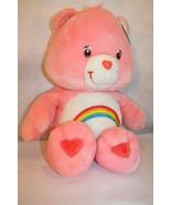 """Care Bears Giant Cheer Bear 28"""" Plush Rainbow HEART LETTERS & ALL tags i... - $99.75"""