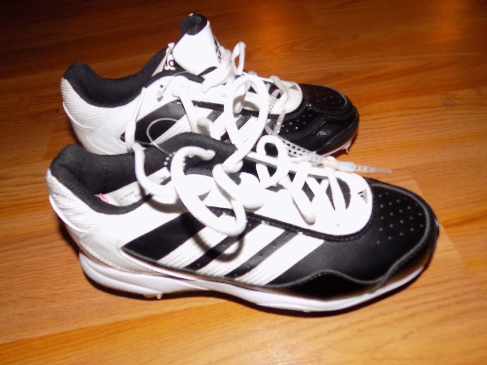 Size 5 Adidas Abbott Pro Metal 2 Softball Cleats Shoes Black White New