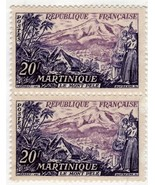Stamps - Martinique Republic Francaise 20 f (2 Stamps) - $1.45