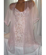 Stretch Lace Chemise and Robe Set S M L Short ... - $22.50