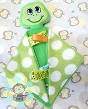 Boy Frog Sensory Security Blanket Lovey/Small Size - $10.00
