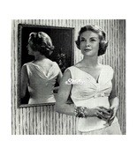 1950s Simple Sweater with Gathered Ruched Bust - Machine Knit Pattern (P... - $3.75