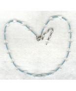 Blue Topaz Gemstone Necklace 2 - $3.40