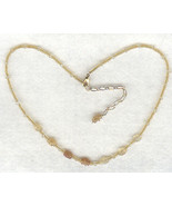 Golden Citrine Gemstone Necklace 4 - $3.40