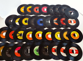 Vintage Vinyl Record Collection 45's Various Artists 35 Pc Estate Lot 60... - $36.76