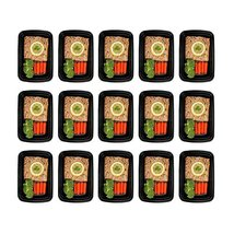 Freshware 15Pack 1 Compartment Bento Lunch Boxes with Lids Stackable YH-... - £15.42 GBP