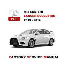 Mitsubishi 2013 2014 Lancer Evolution Engine Transmission Overhaul Repair Manual - $14.95