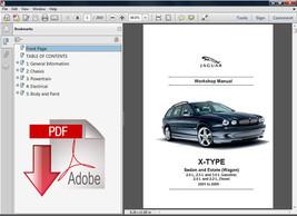 2001 - 2009 Jaguar X Type Estate Wagon Oem Workshop Service Repair Fsm Manual - $14.95