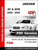 JAGUAR XF XFR 2008 2009 ULTIMATE FACTORY OEM WORKSHOP SERVICE REPAIR FSM... - $14.95