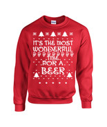 It's the Most Wonderful Time of the Year FOR A BEER Ugly Sweater Unisex ... - $17.78+