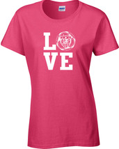 LOVE Soccer United States America World Cup Ladies Tee Shirt 1177 - $9.95