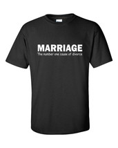 MARRIAGE The Number One Cause of Divorce #1 Funny Humor Tee Shirt - $9.85+
