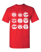 Santa Emoji Christmas XMas Funny Men's Tee Shirt 1523 - €8,40 EUR+