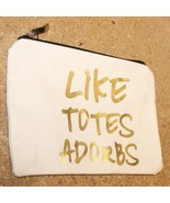 """NEW LIKE TOTES ADORBS 8"""" x 7"""" MAKEUP COSMETIC ACCESSORIES ZIPPERED ZIP U... - $5.00"""