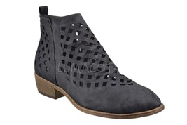 Journee Collection Womens Kat Ankle Bootie in Grey Size 8.5 - $49.99