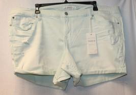 New Torrid Womens Plus Size 26W 26 Mint Green Wash Skinny Shorts W Rolled Hem - $19.34