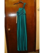 NEW MISSES SIZE 8-10 MEDIUM GREEN LONG PROM FORMAL PARTY EVENT GOWN DRESS - $19.34