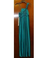 NEW MISSES SIZE 12-14 LARGE GREEN LONG PROM FORMAL PARTY EVENT GOWN DRESS  - $19.34