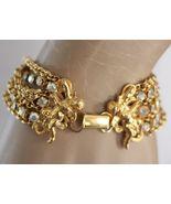 KIRK'S FOLLY 7 Strand AB Crystal Rhinestone Gold ANGEL CHERUB Bracelet -... - $75.00