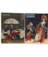 2 issues of Poland Illustrated Magazine, 1966 & 1967 Art Journals - $14.90