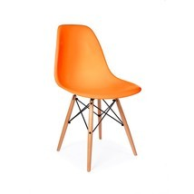 Orange DSW Retro Mid-Century Modern Eiffel Wood Leg Dining Side Chair - ... - £63.91 GBP