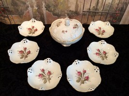 Vintage Rosenthal Classic Rose Lidded Dish and plates - $70.13