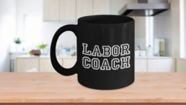 Midwife Gift Ob/Gyn Doula funny mug - Labor Coach in varsity letters - $16.61+