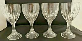 Mikasa Crystal Park Lane 4 Wine Glasses Hand Blown - $56.10
