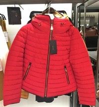ZARA Red Anorak Quilted Parka Puffer Jacket Coat Size Extra Small XS - $123.58