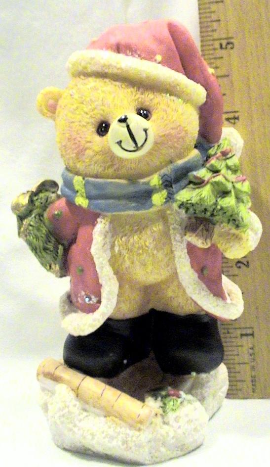 Resin Santa Claus Bear Figurine Statue