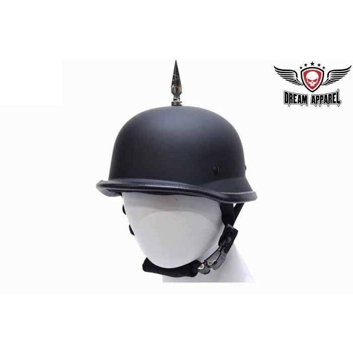 German Novelty Black Flat Motorcycle Helmet And 50 Similar Items