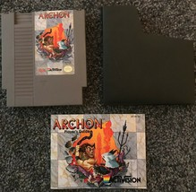 ARCHON Nintendo NES Game Cartridge w/ Sleeve & Instruction Book Cleaned ... - $15.88