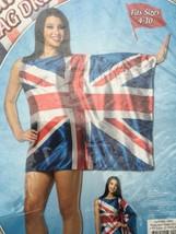 Rasta Imposta Adult Costume UK British Flag Dress NIP size Small Medium ... - $23.97