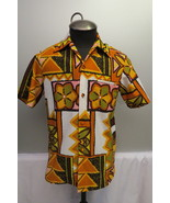 Vintage Hawaiian Aloha Shirt - Pastel Tribal Pattern - By Sears Fashion ... - $49.00
