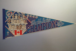 Toronto Blue Jays Pennant (VTG) - Cartoon Graphic 1992 World Series Cham... - $75.00