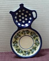Vintage Polish Pottery Ceramika Artystyczna Boleslawiec Teapot Spoon Rest - $13.65