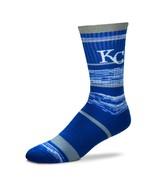 MLB Kansas City Royals Logo RMC Stripe Mens Large Crew Cut Socks - $6.95