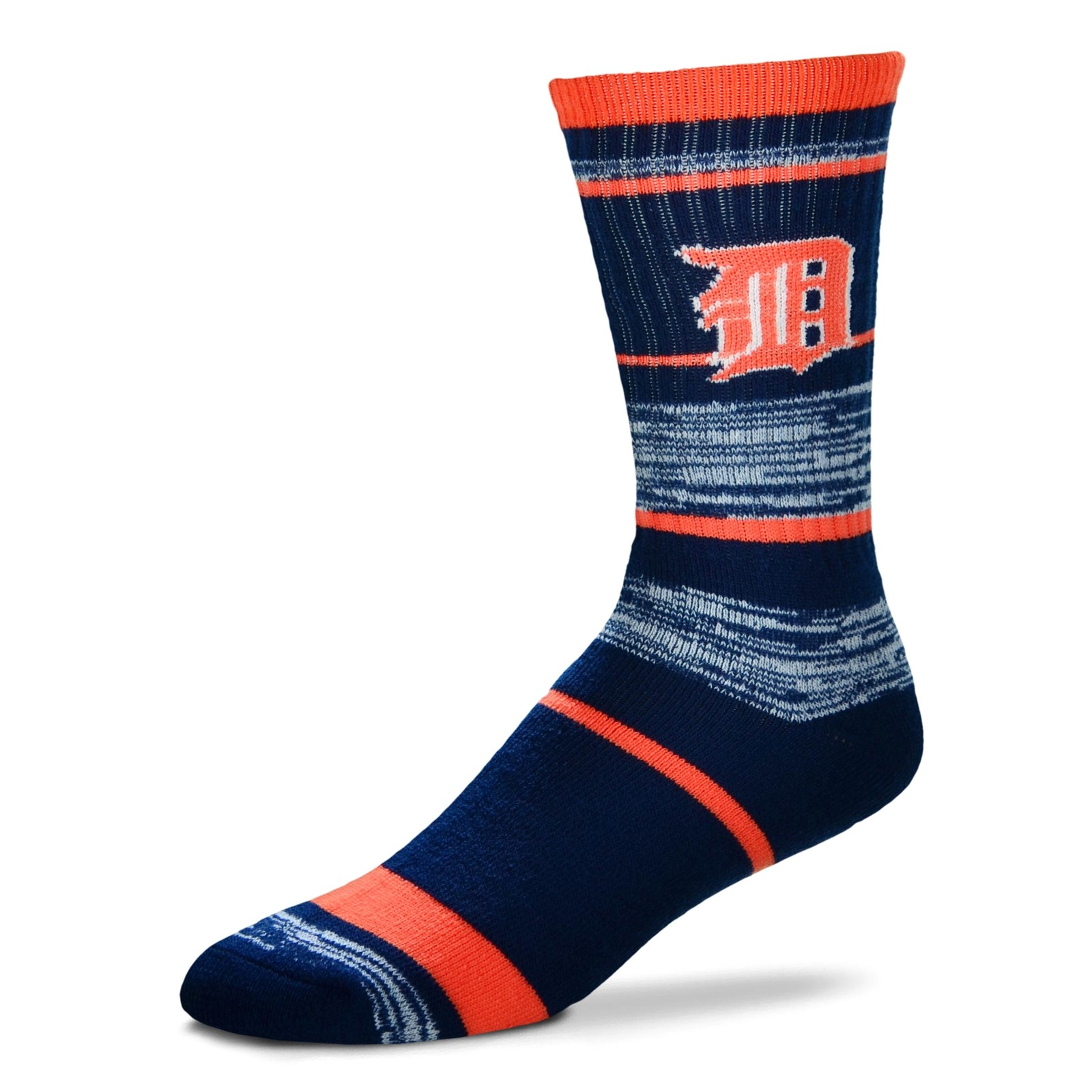 MLB Detroit Tigers Logo RMC Stripe Mens Large Crew Cut Socks - $6.95