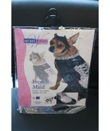 NEW SIZE MEDIUM M DOG DOGGY FRENCH MAID HALLOWEEN COSTUME OUTFIT NIP CUTE~ - $4.99