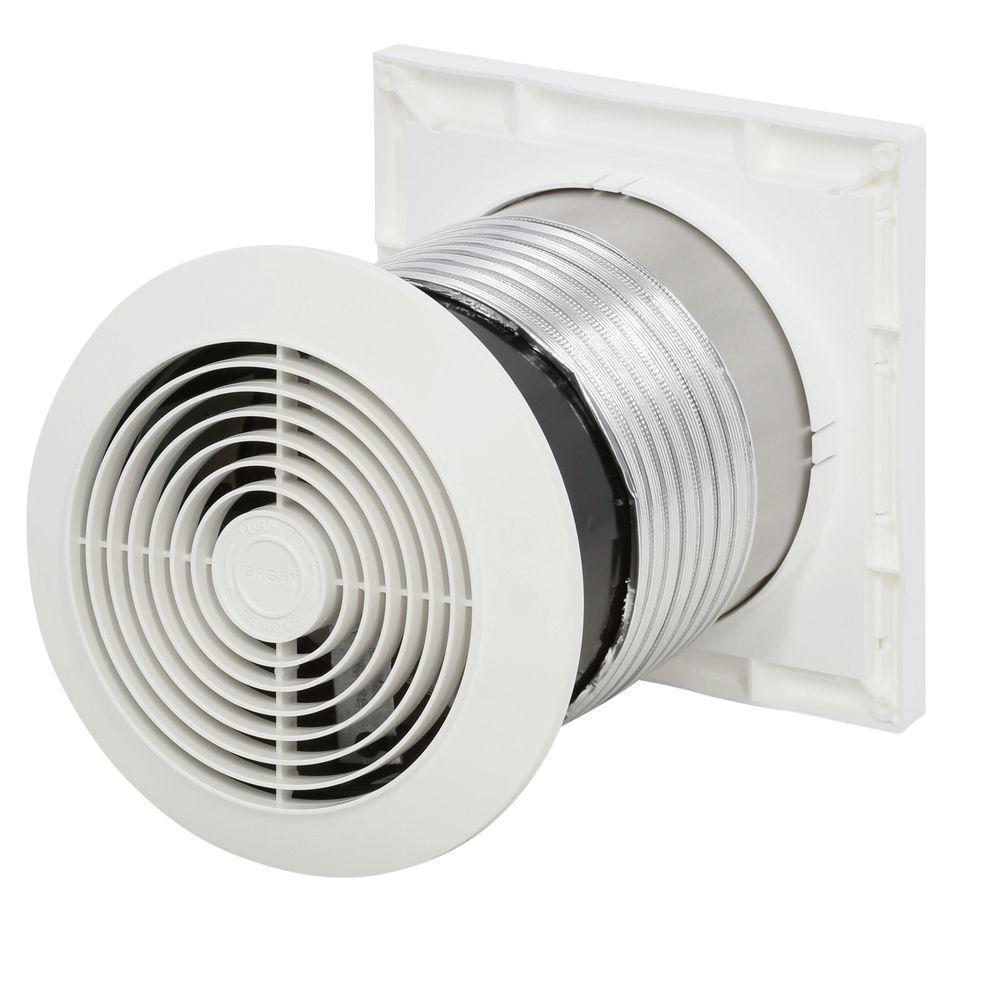 Mountable Exhaust Fan : Cfm through wall mount exhaust fan quiet ventilator