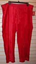 New Womens Plus Size 3X 22W 24W Bright Red Soft Faded Glory Fuzzy Fleece Pants - $13.54
