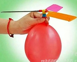 Colorful Balloon Helicopter Aircraft Flying Toy - 1x w/Random Color and Design image 4